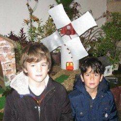 La crèche de la chapelle de Lotivy est installée