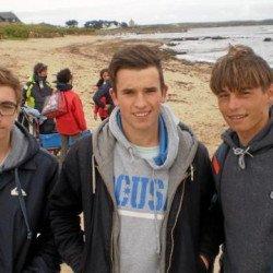 Portivy – Les lycéens nettoient la plage Toul-Bragne