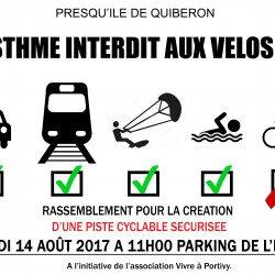 Isthme: réunion du 12/9, la sécurité des cyclistes sera t elle enfin au cœur des préoccupations des élus?