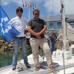 Adieu à Pen Duick V qui rejoint Lorient