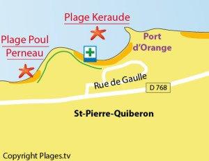 carte-plage-keraude-st-pierre-quiberon