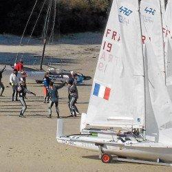 L'équipe de France de 470 en stage à l'école de voile Env