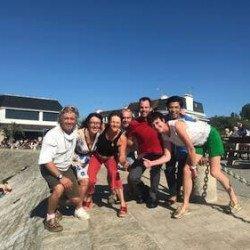 Pour le bonheur des vacanciers, la»pietonnisation» du port de Portivy